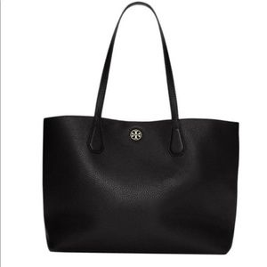 Tory Burch Perry New Black Pebbled Leather Tote